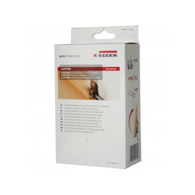 Set Egger 50 buc clipsuri cu suruburi si dibluri pentru fixare plinta MDF - CPE50