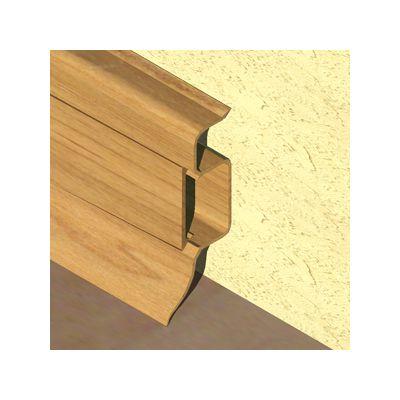 Plinta PVC Prolux pentru cabluri 50 x 22 mm culoare stejar inchis - PBC505
