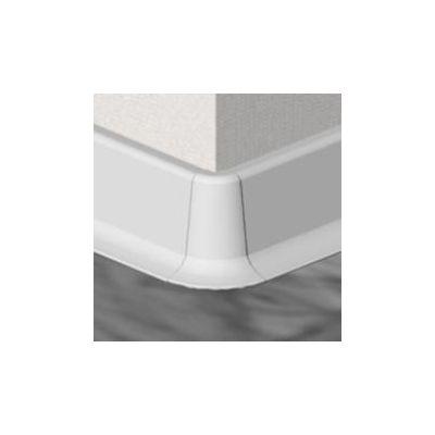 Set 4 buc. piese Lineco imbinare colt exterior culoare alb pentru plinta parchet PBC605 - PBE605. 01-S4
