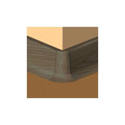 Set 4 buc. piese Lineco imbinare colt exterior culoare wenge pentru plinta parchet PBC605 - PBE605. 162-S4