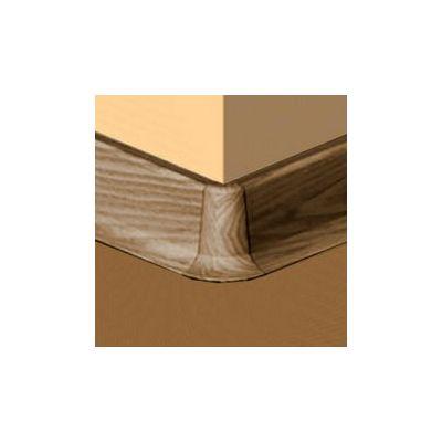 Set 4 buc. piese Lineco imbinare colt exterior culoare nuc inchis pentru plinta parchet PBC605 - PBE605. 167-S4