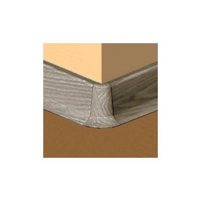 Set 4 buc. piese Lineco imbinare colt exterior culoare gri maroniu pentru plinta parchet PBC605 - PBE605. 240-S4