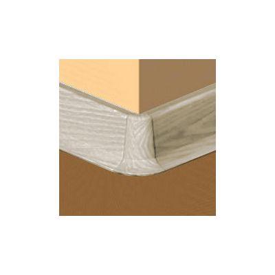 Set 4 buc. piese Lineco imbinare colt exterior culoare gri artar pentru plinta parchet PBC605 - PBE605. 242-S4