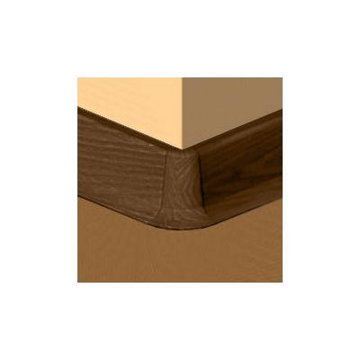 Set 4 buc. piese Lineco imbinare colt exterior culoare stejar maroniu pentru plinta parchet PBC605 - PBE605. 253-S4