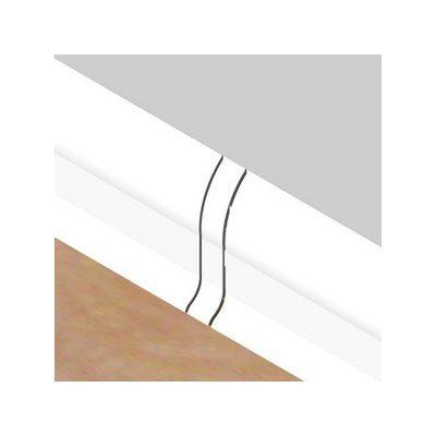 Set 4 buc. piese Lineco imbinare mijloc culoare alb pentru plinta parchet PBC605 - PBL605. 01-S4