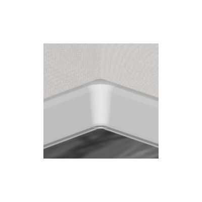 Set 4 buc. piese Lineco imbinare colt interior culoare alb pentru plinta parchet PBC605 - PBY605. 01-S4