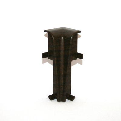 Set 2 buc. colt interior pentru plinta MDF culoare lemn maroniu de esenta tare