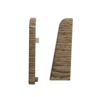 Set 2 buc. capac stanga / dreapta pentru plinta MDF culoare stejar gri maro