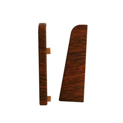 Set 2 buc. capac stanga / dreapta pentru plinta MDF culoare maroniu roscat universal