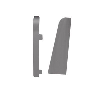 Set 2 buc. capac stanga / dreapta pentru plinta MDF culoare argintiu universal