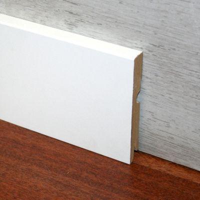 Plinta alba MDF Egger 95x15 mm 2, 4 m pentru parchet - P95. 01