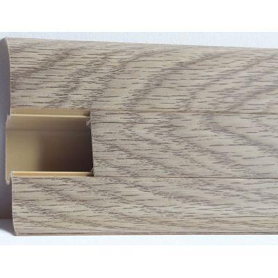 Plinta PVC Lineco pentru cabluri 60 x 20 mm culoare stejar Mocha - PBC605