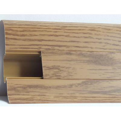 Plinta PVC Lineco pentru cabluri 60 x 20 mm culoare stejar miere - PBC605