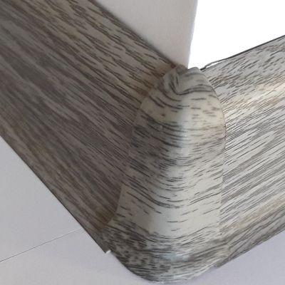 Set 4 buc. piese Lineco imbinare colt exterior culoare stejar cenusa pentru plinta parchet PBC605 - PBE605. 172-S4