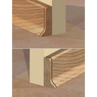Set 4 buc. piese Prolux inchidere plinta (2 buc. dreapta + 2 buc. stanga) culoare stejar inchis pentru plinta parchet PBC505 - PBDS505. 157