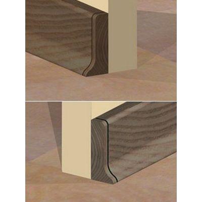 Set 4 buc. piese Prolux inchidere plinta (2 buc. dreapta + 2 buc. stanga) culoare stejar vechi pentru plinta parchet PBC505 - PBDS505. 159