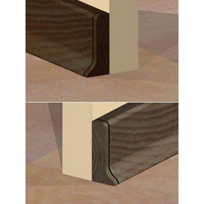 Set 4 buc. piese Prolux inchidere plinta (2 buc. dreapta + 2 buc. stanga) culoare wenge pentru plinta parchet PBC505 - PBDS505. 162