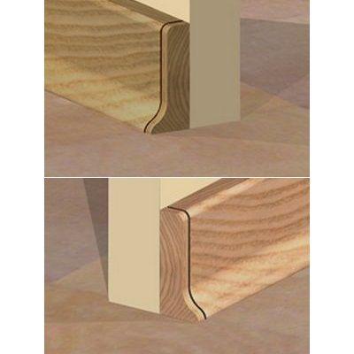 Set 4 buc piese Prolux inchidere plinta (2 buc. dreapta + 2 buc. stanga) culoare stejar pentru plinta parchet PBC505 - PBDS505. 40