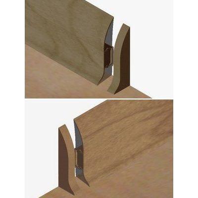 Set 4 buc. piese Lineco inchidere plinta (2 buc. dreapta + 2 buc. stanga) culoare stejar vechi pentru plinta parchet PBC605 - PBDS605. 159