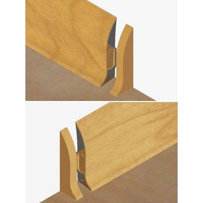 Set 4 buc. piese Lineco inchidere plinta (2 buc. dreapta + 2 buc. stanga) culoare stejar auriu pentru plinta parchet PBC605 - PBDS605. 169