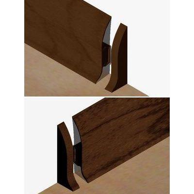Set 4 buc. piese Lineco inchidere plinta (2 buc. dreapta + 2 buc. stanga) culoare stejar maroniu pentru plinta parchet PBC605 - PBDS605. 253