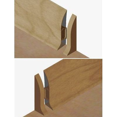 Set 4 buc. piese Lineco inchidere plinta (2 buc. dreapta + 2 buc. stanga) culoare stejar pentru plinta parchet PBC605 - PBDS605. 40