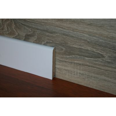Plinta alba MDF Egger 80x15 mm 2, 4 m pentru parchet - P80. 01