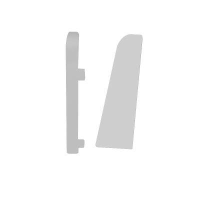 Set 2 buc. capac stanga / dreapta pentru plinta MDF culoare alb universal