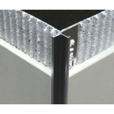 Bagheta din aluminiu cu linii drepte pt. colt interior, A=10mm, 2. 5 m - EIK100