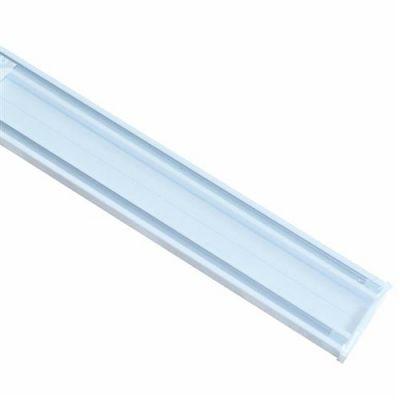 Set sina din aluminiu cu doua canale pentru perdele + accesorii, L=2m - SA220
