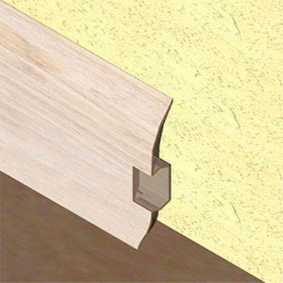 Plinta PVC Lineco pentru cabluri 60 x 20 mm culoare frasin deschis - PBC605