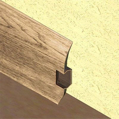 Plinta PVC Lineco pentru cabluri 60 x 20 mm culoare stejar nordic - PBC605