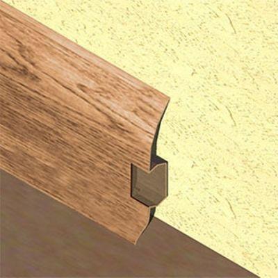 Plinta PVC Lineco pentru cabluri 60 x 20 mm culoare stejar country - PBC605