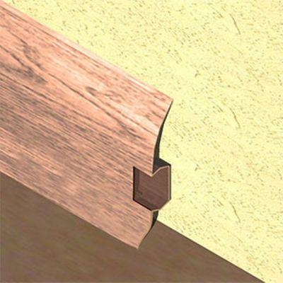 Plinta PVC Lineco pentru cabluri 60 x 20 mm culoare stejar nins - PBC605
