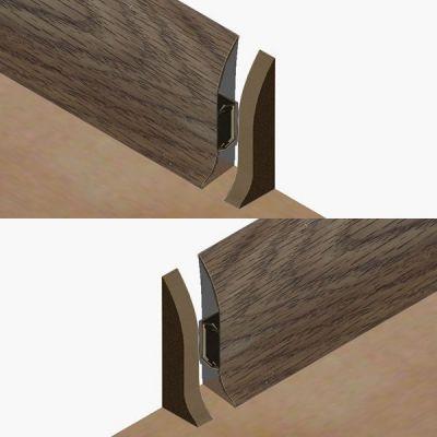Set 4 buc. piese Lineco inchidere plinta (2 buc. dreapta + 2 buc. stanga) culoare stejar olive pentru plinta parchet PBC605 - PBDS605. 120