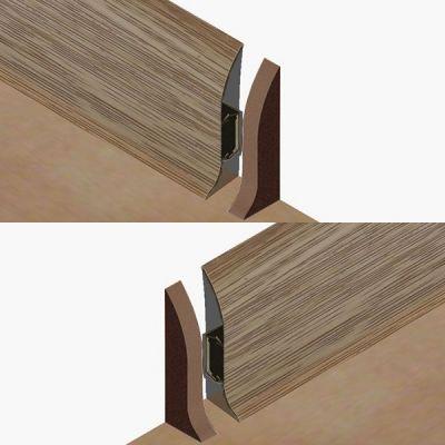 Set 4 buc. piese Lineco inchidere plinta (2 buc. dreapta + 2 buc. stanga) culoare stejar nordic pentru plinta parchet PBC605 - PBDS605. 126