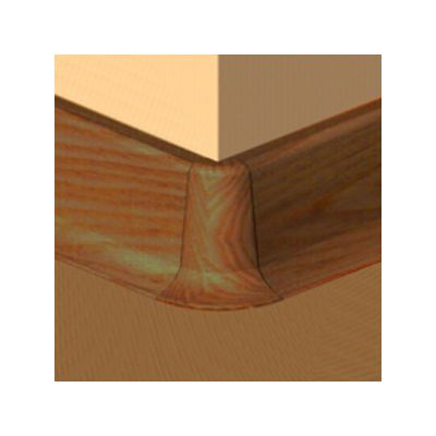Set 4 buc. piese Lineco imbinare colt exterior culoare stejar cognac pentru plinta parchet PBC605 - PBE605. 124-S4