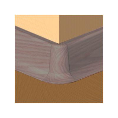 Set 4 buc. piese Lineco imbinare colt exterior culoare stejar nins pentru plinta parchet PBC605 - PBE605. 130-S4