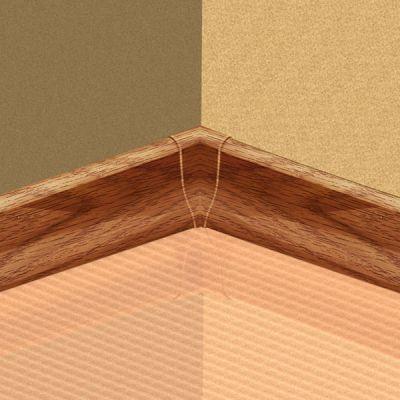 Set 4 buc. piese Lineco imbinare colt interior culoare stejar cognac pentru plinta parchet PBC605 - PBY605. 124-S4