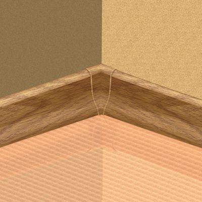 Set 4 buc. piese Lineco imbinare colt interior culoare stejar country pentru plinta parchet PBC605 - PBY605. 128-S4