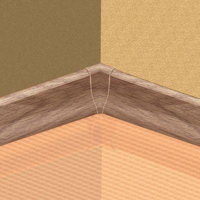 Set 4 buc. piese Lineco imbinare colt interior culoare stejar nins pentru plinta parchet PBC605 - PBY605. 130-S4