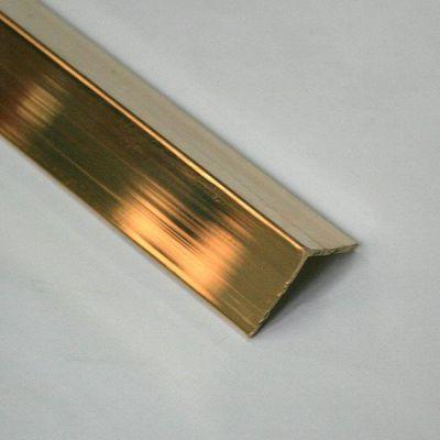 Cornier / coltar cu laturi drepte din alama regala l=A=20mm - LBA207