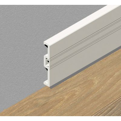 Plinta din PVC celular cu canal, 70 mm, 2, 5 m lungime, culoare alb - PPC705. 01
