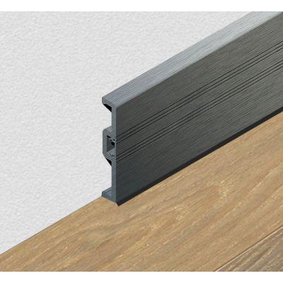 Plinta din PVC celular cu canal, 70 mm, 2, 5 m lungime, culoare gri inchis - PPC705. 35