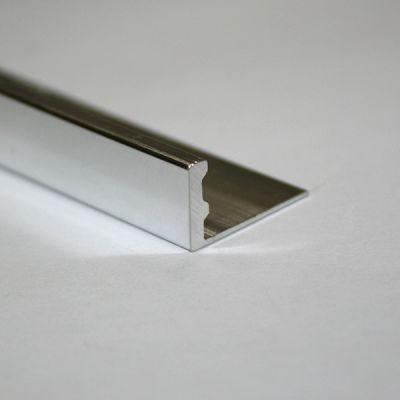 Bagheta dreapta muchii exterioare din aluminiu eloxat periat - ESA120