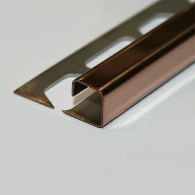 Profil patrat din inox (culoare cupru satinat) - PQQ100