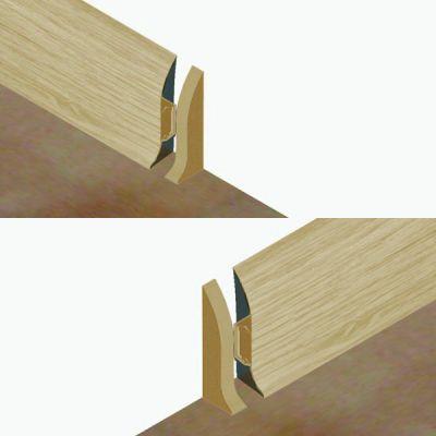 Set 4 buc. piese Lineco inchidere plinta (2 buc. dreapta + 2 buc. stanga) culoare frasin deschis pentru plinta parchet PBC605 - PBDS605. 122