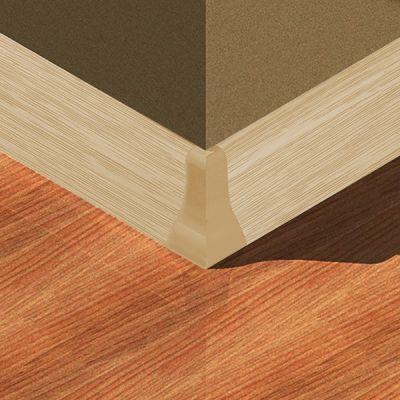 Set 4 buc. piese Lineco imbinare colt exterior culoare frasin deschis pentru plinta parchet PBC605 - PBE605. 122-S4