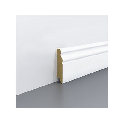 Plinta alba MDF pentru parchet, 70x18 mm 2, 4 m - P70. 01