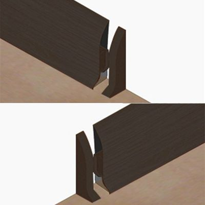 Set 4 buc. piese Lineco inchidere plinta (2 buc. dreapta + 2 buc. stanga) culoare stejar negru pentru plinta parchet PBC605 -PBDS605. 129